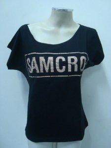 Blusinha gola canoa - Sons of Anarchy - Samcro