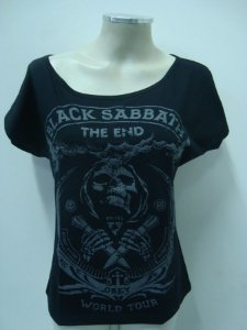 Blusinha gola canoa - Black Sabbath - Obey - The End tour