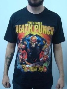 Camiseta Five Finger Deadh Punch - Got your six