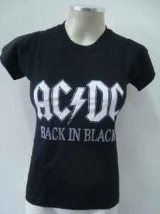 Baby look AC DC - Back in black