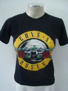 Baby look Guns and Roses Clássica