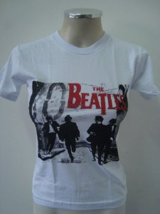 Baby look The Beatles - Branca