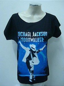 Blusinha gola canoa Michael Jackson - Moonwalker