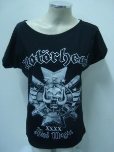 Blusinha gola canoa Motorhead - Bad Magic