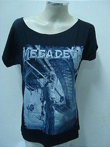 Blusinha gola canoa Megadeth - Dystopia