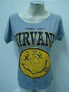 Blusinha gola canoa Nirvana - Since 1987