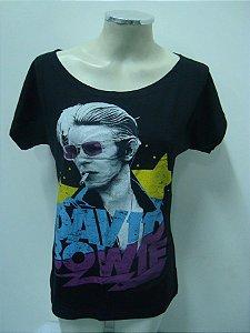 Blusinha gola canoa David Bowie