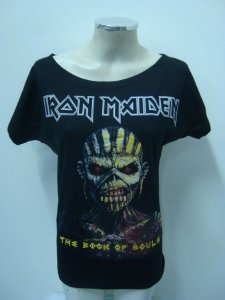 Blusinha gola canoa Iron Maiden - The Book of Souls