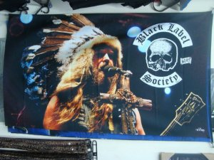 Bandeira Black Label Society - Zakk Wylde