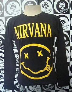 Camiseta manga longa Nirvana