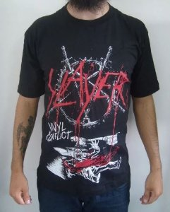 Camiseta Slayer - Vinyl Conflict