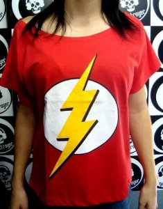 Blusinha gola canoa The Flash