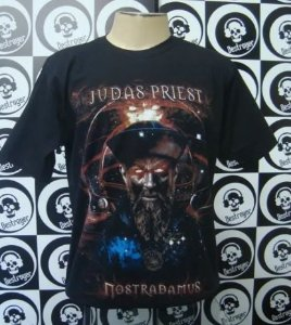 Camiseta Judas Priest - Nostradamus