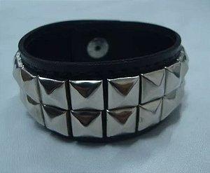 Bracelete de Rebites - 2 fileiras