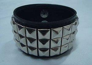 Bracelete de Rebites - 3 fileiras