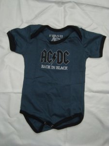 Body para bebês - AC DC - Back in Black