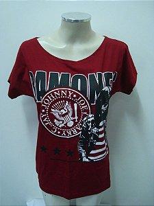 Blusinha gola canoa Ramones