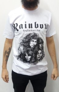 Camiseta Rainbow - Long Live Rock and Roll