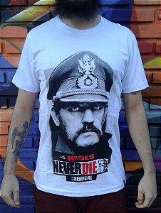 Camiseta Idols Never Die - Lemmy - Motorhead