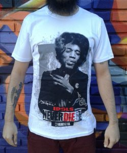Camiseta Idols Never Die - Jimi Hendrix