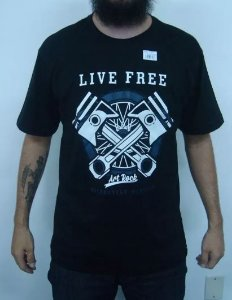 Camiseta Custom Live Free