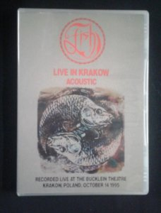 DVD Fish - Live in Krakow - Acoustic - 1995 - Importado