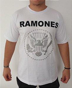 Camiseta branca Ramones