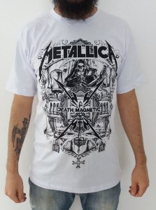 Camiseta Metallica - Death Magnetic Caveira