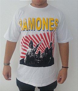 Camiseta branca Ramones - banda