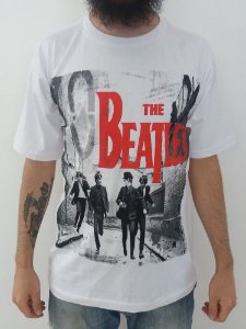 Camiseta The beatles - Hard days night branca