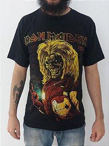 Camiseta Iron Maiden - Ed de ferro