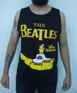 Camiseta regata The Beatles - Yellow Submarine