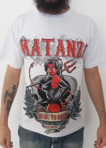 Camiseta branca Matanza - Música para beber e brigar