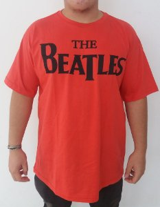 Camiseta vermelha The Beatles