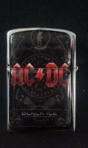 Isqueiro - AC DC - Black Ice