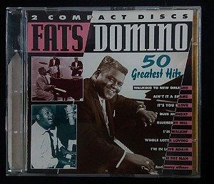 CD Fats Domino - 50 Greatest Hits - Duplo Importado