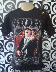 Camiseta AC DC - Black Ice - Angus
