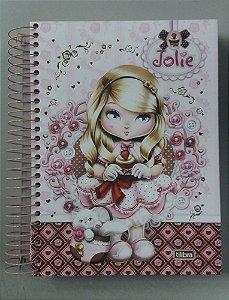 Caderno escolar 16 Matérias - Jolie