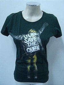 Baby look - God save the Queen (verde)