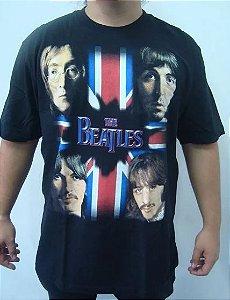 Camiseta The Beatles - Faces flag