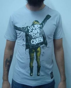 Camiseta God save the Queen - Cinza