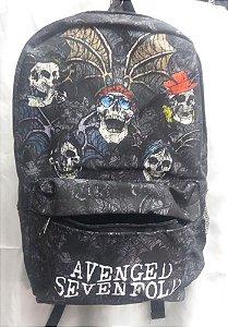 Mochila Escolar - Avenged Sevenfold - Batskulls