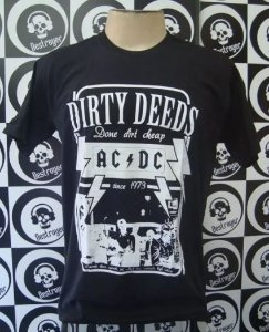 Camiseta AC DC - Dirty Deeds Done dirt Cheep