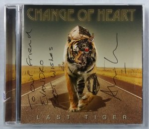 CD Change of Heart - Last Tiger - Autografado