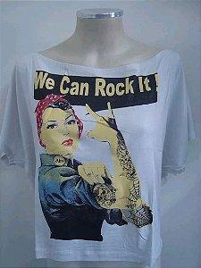 Blusinha gola canoa - We Can Rock It - Mulher