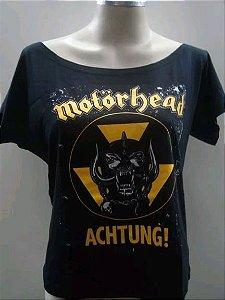 Blusinha gola canoa Motorhead - Achtung!