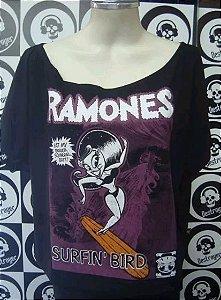 Blusinha gola canoa - Ramones - Surfin Bird