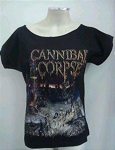 Blusinha gola canoa Cannibal Corpse