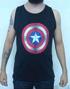 Camiseta regata Capitão América
