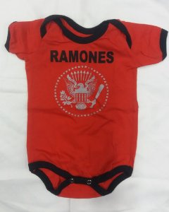 Body para bebês - Ramones - Vermelho